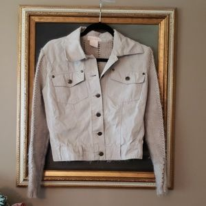 ♦️DRAMA 1X jr cute jacket denim knit